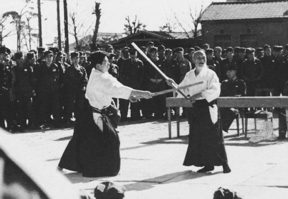 Osensei giving a demonstration